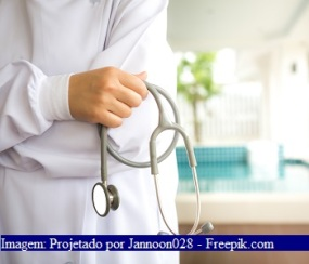 Doctor with stethoscope in the hands